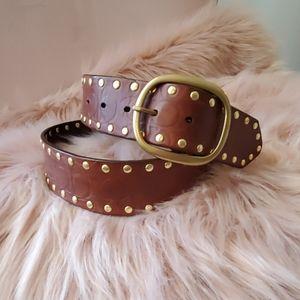 Coach embellished studded belt size L